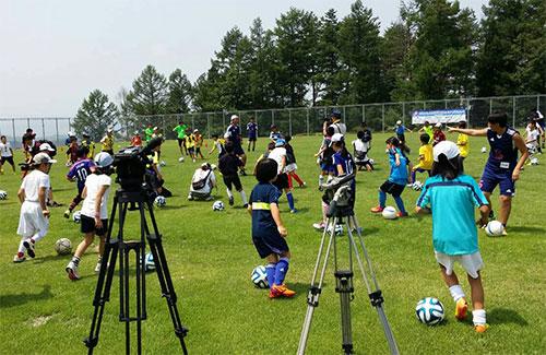 尾花沢キャンプサッカー教室